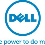 Dell tagline vertical logotype in blue, RGB color. JPEG Format. The power to do more.